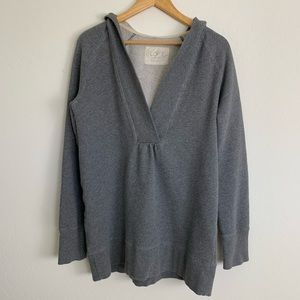 Cozy Loft Lounge Gray Pull Over Hoodie L